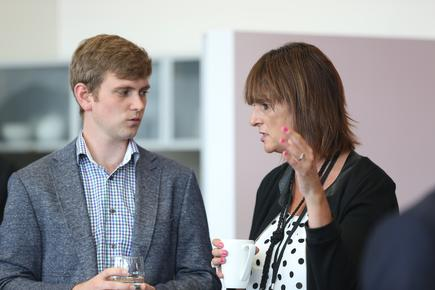 Sandra Pickering, technology executive, Vodafone NZ and Reuben Bijl, director, Smudge