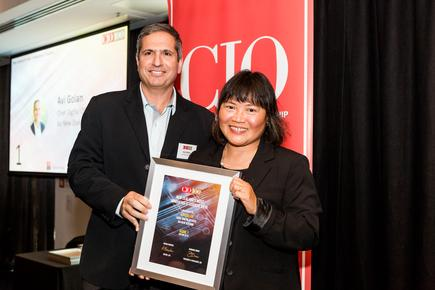 Avi Golan of Air New Zealand with CIO NZ editor Divina Paredes