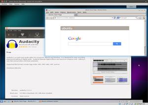 Firefox and the Ubuntu Software Centre on the K Desktop Environment