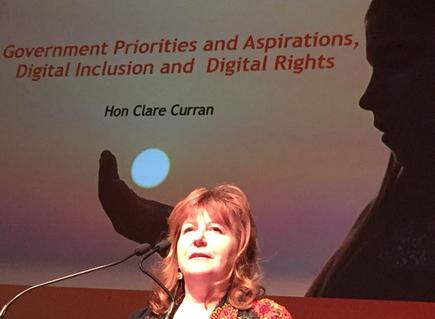 Broadcasting, Communications and Digital Media Minister Clare Curran at the SUNZ (SAS Users New Zealand) conference in Wellington