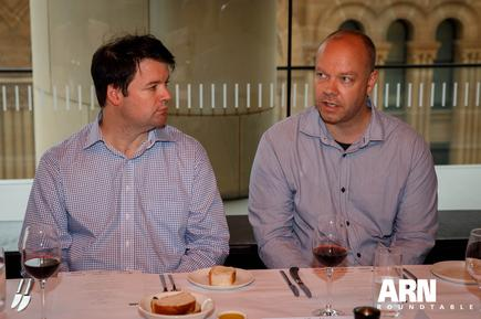 Rhys Shannon (Westcon-Comstor) and Richard Tomkinson (Cloudten Industries)
