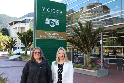 Dr Mary Ellen Gordon, masters in information management programme director at Victoria University of Wellington) and Kate Kolich, director of data systems and analytics at Social Investment Agency are the WiDS co-ambassadors for the 2019  New Zealand WiDS conference