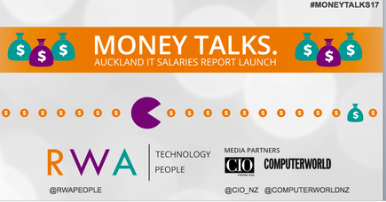 The inaugural Auckland IT Salaries Report 2017 was launched at the #MoneyTalks breakfast forum at the ASB Cube.