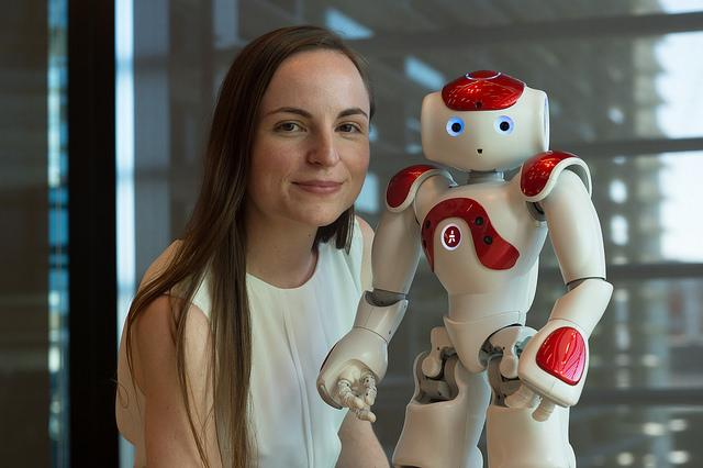 Nicole Robinson and robot