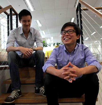Airtasker co-founders Jonathan Lui (left) and Tim Fung. Credit: Airtasker