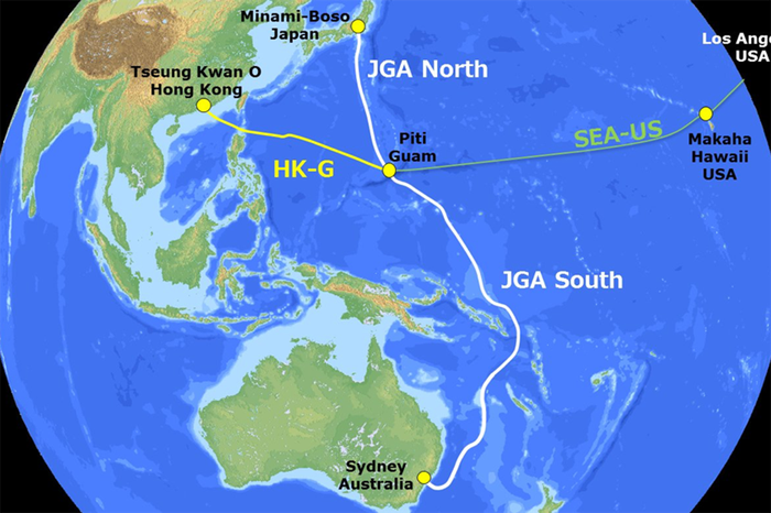 The Japan-Guam-Australia (JGA) route