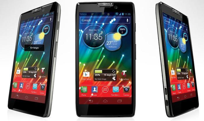 The Motorola RAZR HD Android phone