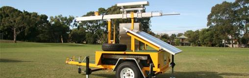 The trailer includes a mobile repeater and solar panel. Image credit: Telstra