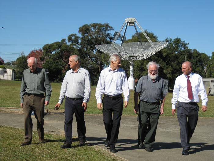 Graham Daniels, Diet Ostry, Terry Percival, John Deane and John O'Sullivan (Photo: CSIRO)